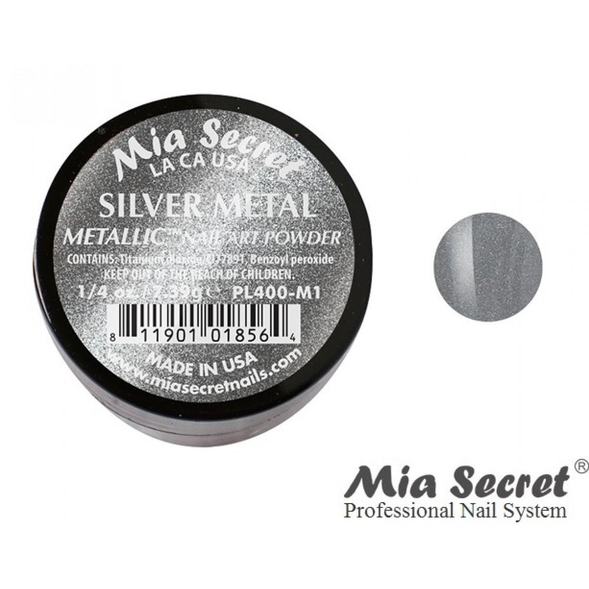 Metallic Acryl-Pulver Silver Metal