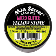 Micro Glitter Acryl-Pulver Yellow Stone