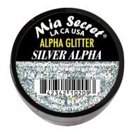 Alpha & Dust Glitter Acryl-Pulver Silver Alpha