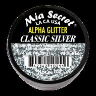 Alpha & Dust Glitter Acryl-Pulver Classic Silver