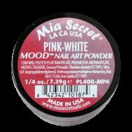 Mood Acryl-Pulver Pink - Weiß